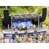 Noch 66823 Open-air theater with rock band, voiced, scale HO.