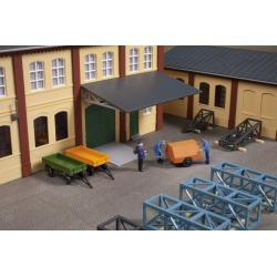 Auhagen 41642 Set of 3 trailers, schaal HO