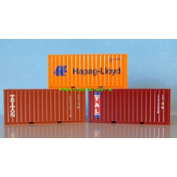 Herpa 76432-003 Containers, 3 P., scale HO.
