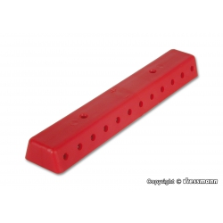 Rail red, with screws, 2 pieces.