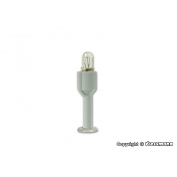 House illumination socket with bulb E 5,5, clear
