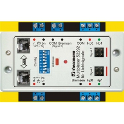 Double multiplexer for 2 colour light signals with multiplex-technology