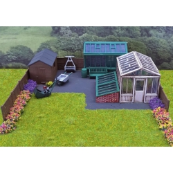 Wills-Kits SS92 Garden buildings and accessories, scale HO.