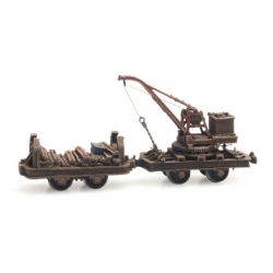 Artitec 387.393 Set of mine cars with crane HOi ( 6,5 mm ), scale HO.