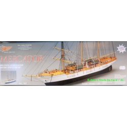 Mantua Model 757 Kit Boat wood, Mercator, scale 1 / 200e.