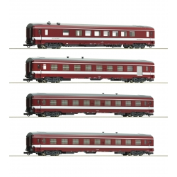 Roco 74110 Set 4 coach UIC Capitole of SNCF, scale HO.