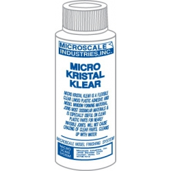 Micro Kristal Klear MI-9 Glue for glazing in model construction.