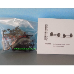 Herpa 052559 Steering axles for Car System, scale HO.