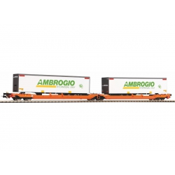 Piko 54775 Articulated double pocket wagon of DB AG, scale HO.
