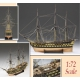 Amati 1300/04 HMS Vanguard, Vessel of 74 guns, scale 1/72