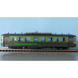 Piko 52781 Railcar 553 of SNCB, scale HO, DC.
