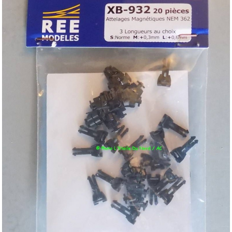 REE XB932 Magnetic harness in 2 poles, scale HO.