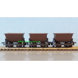 Peco GR-330 Mine cars, 3 p. Scale HOe / OO-9.