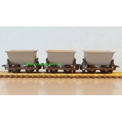 Peco GR-331 Mine cars, 3 p. Scale HOe / OO-9.