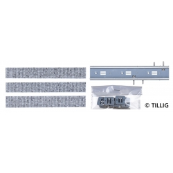 Tillig 87511 Straight lane with paving stones, 105,6 mm, scale HO.