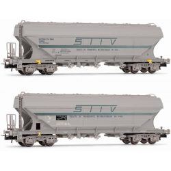 Rivarossi HR6472 Set of two cereal cars NMBS / DB, schaal HO.