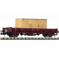 Fleischmann 825804 Stake car that carries a wooden box, SNCF, scale N