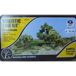 Woodland Scenics TR 1112 Realistic tree kit, 6 deciduous