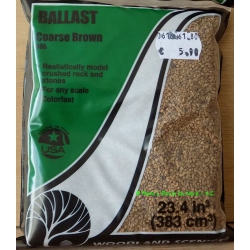 Woodland Scenics B 85 Ballast coarse, dark brown, 383 cm³