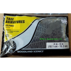 Woodland Scenics TR 1120 Tree armatures, 114 deciduous, 19 mm - 50,8 mm