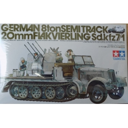 Tamiya 35050 German 8tonSEMITRACK 20mm Flakvierling Sd.kfz7/1, 1/35