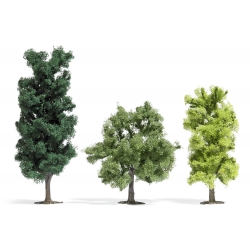 Busch 6941 Deciduous Trees, 3 parts