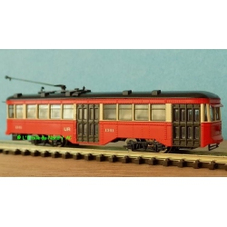 Spectrum 84656 Tramway Peter Witt Street Car With Liights ( DCC ) St. Louis, schaal N