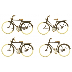 Artitec 10255 Set of 4 bicycles, scale HO.
