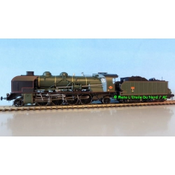 REE MB-051 Steam locomotive type 141 5-141E388 of SNCF, DC. Scale HO.