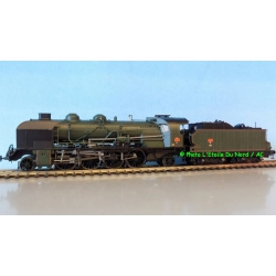 REE MB-052 Steam locomotive type 141 6-141E672 of SNCF, DC. Scale HO.