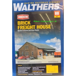 Walthers 933.2954 Brick freight house, scale HO.